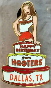 Details About Hooters Restaurant Dallas Texas Sexy Hot Waitress Girl Pin Happy Birthday Cake