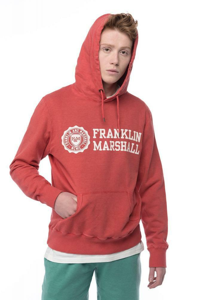 FRANKLIN AND MARSHALL HOODY CAMPUS ROT DISTRESSED DYE LARGE   SALE