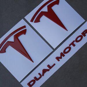 Tesla Model 3 Emblem Bundle - Dual Motor | eBay