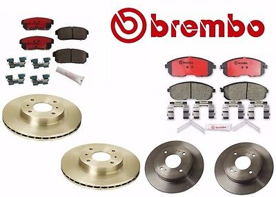 Front /& Rear Disc Brake Pads Brembo for Nissan Infiniti P56021N P49035N