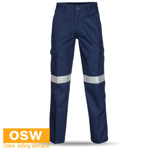 UNISEX FLAME FIRE RETARDANT ANTI STATIC 3M-TAPED DAY//NIGHT WORK CARGO PANTS