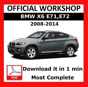 DOWNLOAD SERVICE /& REPAIR OFFICIAL WORKSHOP MANUAL BMW X SERIES X6 E72 2008-2014