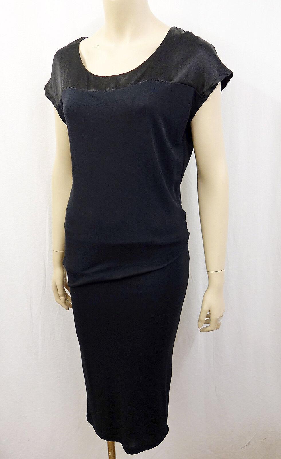 Nouveau IHEART Designer Robe Dress Größe XS 34-36 personnage souligne schwarz