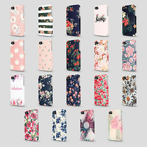 Floral-Flowers-Shabby-Chic-Summer-Roses-Case-Hard-Cover-For-iPhone