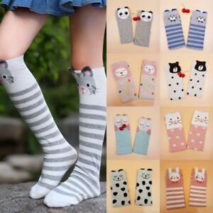 4dcc8799c Image is loading Toddler-Girls-Long-Socks-Cute-Cartoon-Animal-Print-