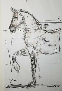 JOSE-TRUJILLO-HUGE-Art-Expressive-CHARCOAL-DRAWING-ORIGINAL-Figurative-Horse