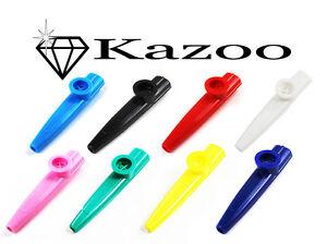 5X-Plastic-Harmonica-Mouth-Flute-Kazoo-Musical-Instrument-Harmonica-Mouth-Flute
