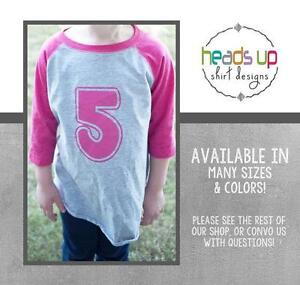 Image Is Loading Raglan Toddler Boy Girl 5 Birthday Shirt Five