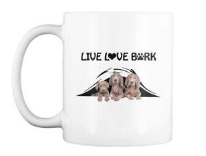 Live Love Bark Weimaraner- Dt - Gift Coffee Mug