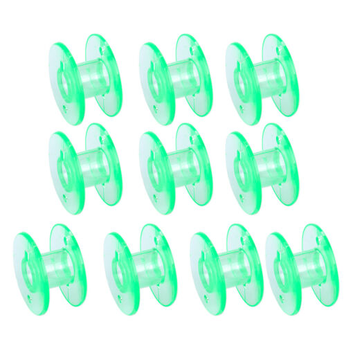 10x Plastic Clear Sewing Machine Spool Bobbin Fit For Husqvarna Viking 4123078-G