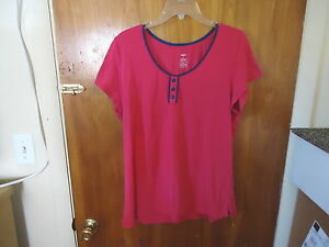 Womens-Mixit-Size-XL-Short-Sleeve-Pink-Top-034-GREAT-TOP-034