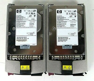 "LOT OF 2 HP 36.4GB 15K Ultra 320 SCSI 3.5/"" Hard Drive HDD Tray Caddy 404714-001"