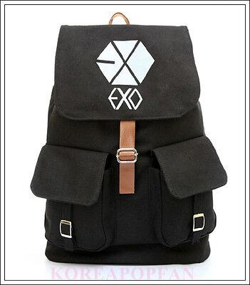 EXO chanyeol baekhyun KPOP from planet CANVAS SCHOOL BAG BACKPACK NEW EXODUS