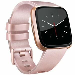 Fitbit-Versa-Silicone-Replacement-Band-Sport-Fitness-Wristband-ROSE-GOLD-Small