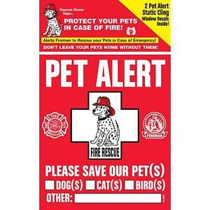 """RESCUE ROVER"" Pet Alert Decals - 10 PACKS"