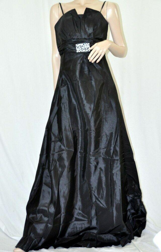 CITY GIRL ROBE de soirée robe de bal avec supports Spaghetti Taft schwarz Größe 42 NEUF