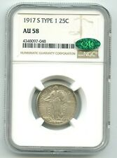 1917-S Standing Liberty Quarter Type 1 (AU-58) NGC & CAC!!  TOUGH DATE! READ!