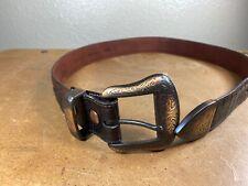 Ariat Western Mens Belt Leather Straight Arrow Dark Antiqued Saddle A10011085