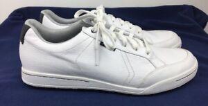 0f01470232f9da Ashworth Cardiff Golf Shoes Men's Spikeless White Pebbled Leather Sz ...