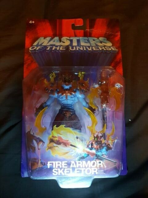 FIRE ARMOR SKELETOR Masters of the Universe He Man Figure 2003 Mattel NEW