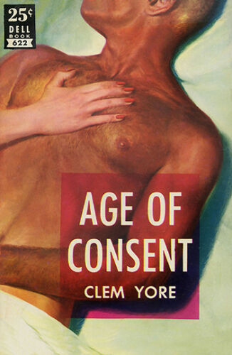 Age of Consent  Pulp book cover Wall art poster reproduction