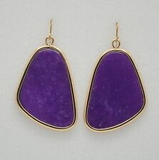 Barse Bronze and Purple Quartz Earrings