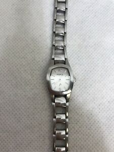 Fossil-Ladies-All-Stainless-Steel-Quartz-Watch-ES9526-Silver-Tone-Dial-WR-30M
