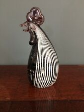 Vintage Murano Glass Bird Chicken Cockerel