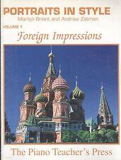 Foreign Impressions Piano Solos Intermediate Early Advanced Briant & Zatman