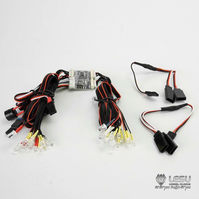 LUCE LED LESU del sistema di parti per 1 14 fai da te TAMIYA HINO Trattore Camion con Cassone Ribaltabile Auto