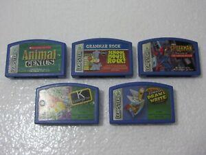 Leap-Frog-Leapster-Handheld-Learning-Game-System-Game-Cartridge-Bundle-B1