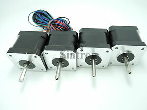 NEW-4pcs-NEMA-17-1-8-2-6-kg-cm-flat-shaft-Stepper-Motor-for-3D-Printer-RepRap