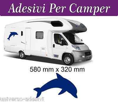 Aspirante Adesivo Per Camper -- Figura Delfino -- Hobby Mobilvetta Adria Hymer Arca Pregevole Fattura