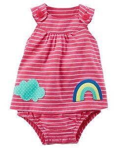 One-pieces Enthusiastic Nuevo Carter's Niña 1 Pieza Arcoiris Nube Aplicación Verano Disfraz 3m 9m 9m 18m Fashionable Patterns