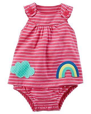 Baby & Toddler Clothing Neu Carter's Mädchen 1 Stück Rainbow Wolken Verzierung Sommer-outfit 3m 9m 9m Discounts Sale Clothing, Shoes & Accessories
