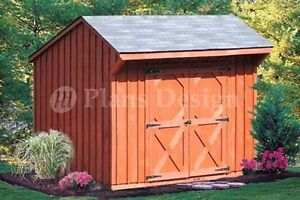 6-039-x-8-039-Playhouse-Or-Garden-Storage-Shed-Plans-Material-List-Included-70608