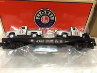 Lionel 26389 Santa Fe Flat Car With 2 Ford Pick-up Trucks In Box