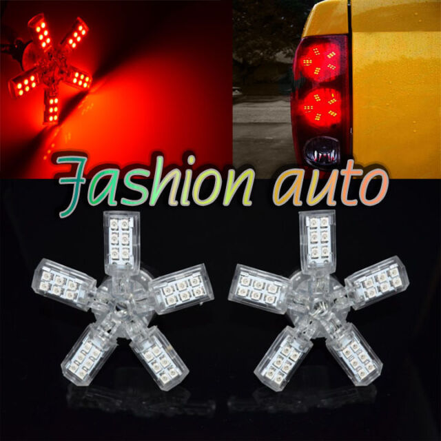 2x 3157 T25 Red 40-SMD 5 Arms Spider LED Tail/Brake Light Bulbs
