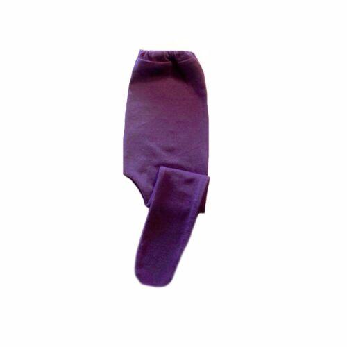 Baby Girls/' Purple Cotton Spandex Knit Tights 6 Preemie Newborn Toddler Sizes