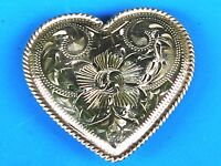 Vogt Sterling Silver Signed 2.25 Heart Concho Chicago Screw Back Mexico