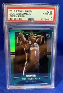 2019-Panini-Green-Prizm-248-Zion-Williamson-RC-Rookie-PSA-10-GEM-MINT