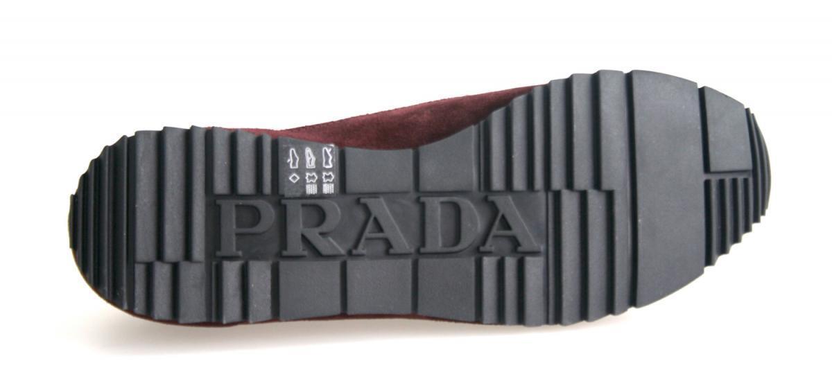 LUXE prada prada prada Basket  chaussures 4e2721 bordeaux rouge neuf new 6,5 40,5 41 | Durable Dans L'utilisation  6a15fc