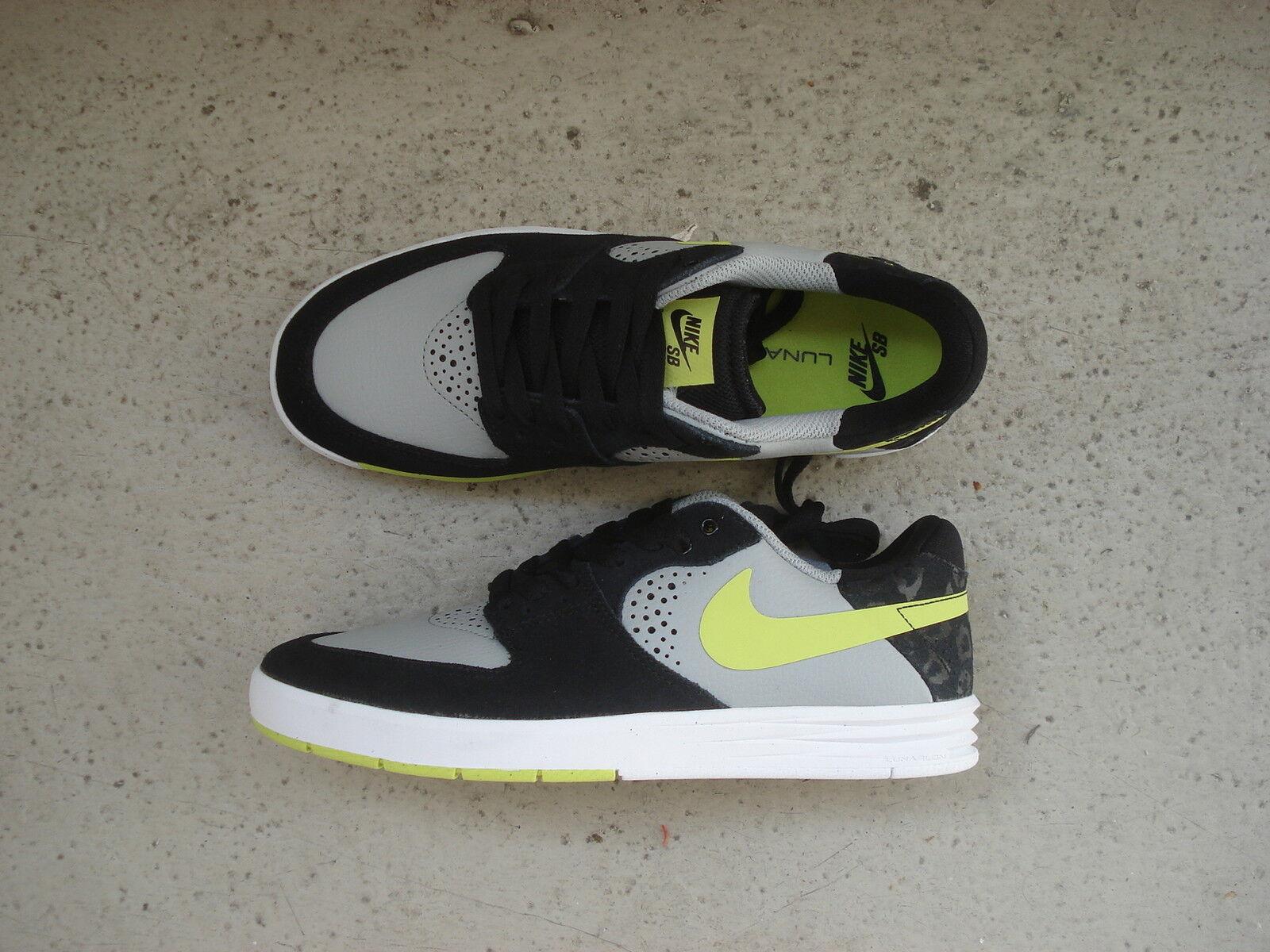 Nike Air Lunar Paul Rodriguez 7 42 Base Grey Venom Green Black