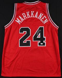more photos 80566 25a68 Details about Lauri Markkanen Signed Bulls Jersey (JSA COA) Chicago Power  Forward / U Arizona