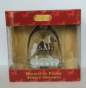 Breyer-700313-Holiday-on-Parade-Saddlebred-Stirrup-Christmas-Horse-Ornament-NIB