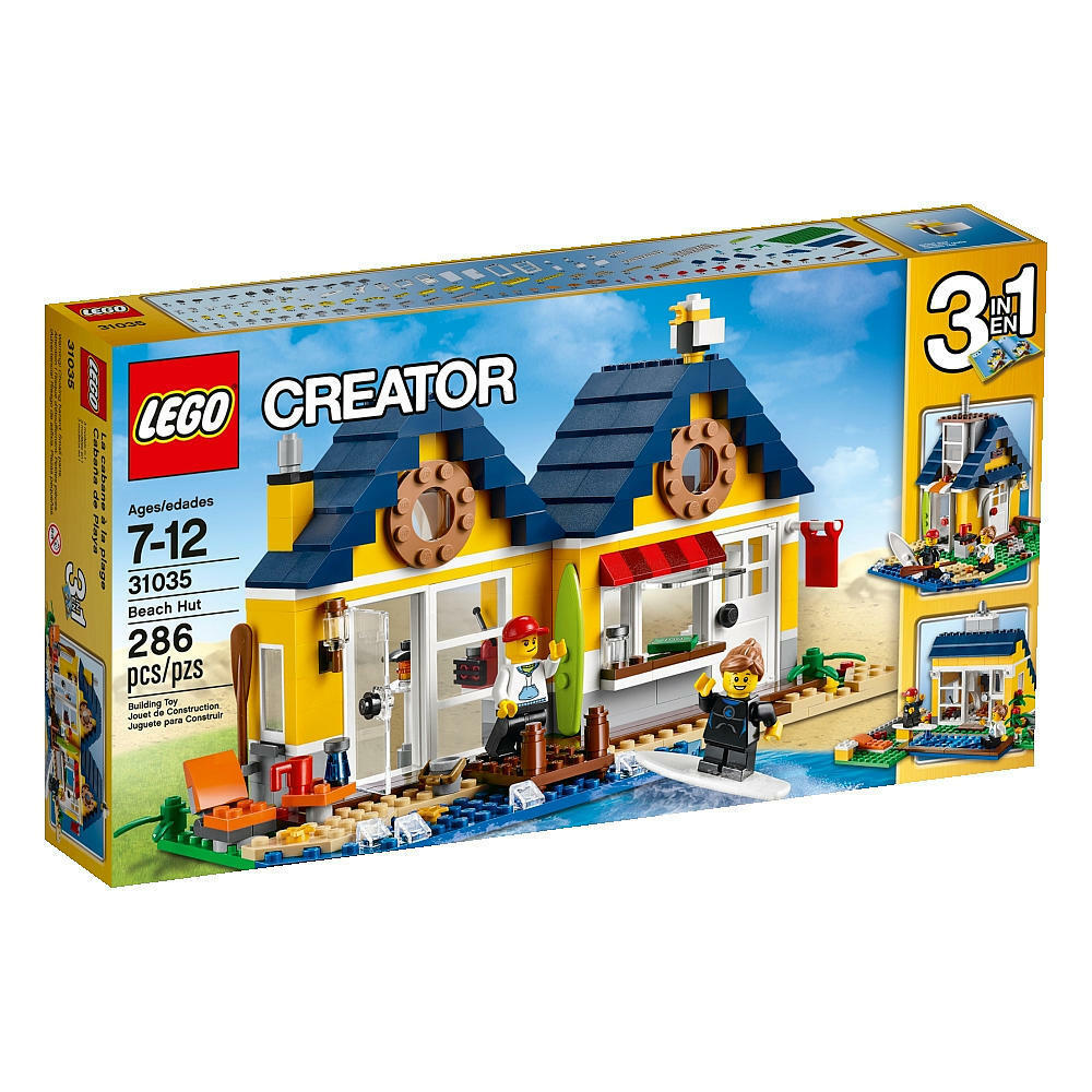 LEGO CREATOR  3 in 1  - 31035 - Beach Hut - 286 piece set - Ages 7 - 12 years