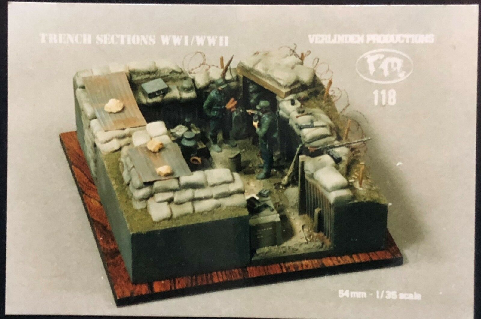 1 35 TRENCH SECTIONS WWI WWII. VERLINDEN 118. NEW