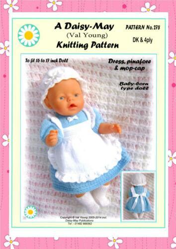 Muñecas Tejer patrón para muñeca bebé nacido o 16//17ins Nº 278 por Daisy puede