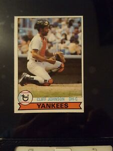 Details About 1979 Topps New York Yankees Baseball Card 114 Cliff Johnson