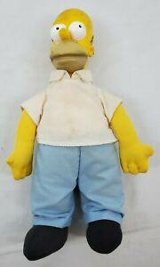 VINTAGE Homer Simpson Plush Doll w/Plastic Head M.Groening 20th Century Fox 1990